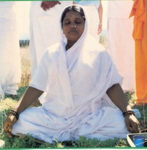Amma Meditating